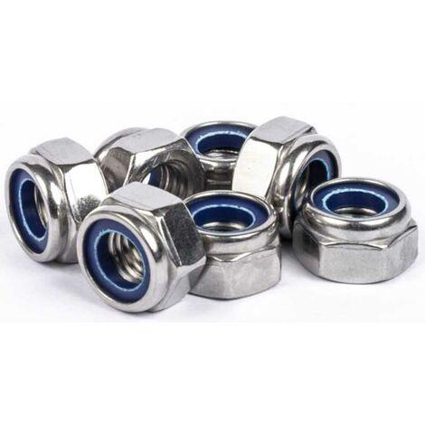 Ecrous freins hexagonaux inox A4 | 3mm - 25 pcs
