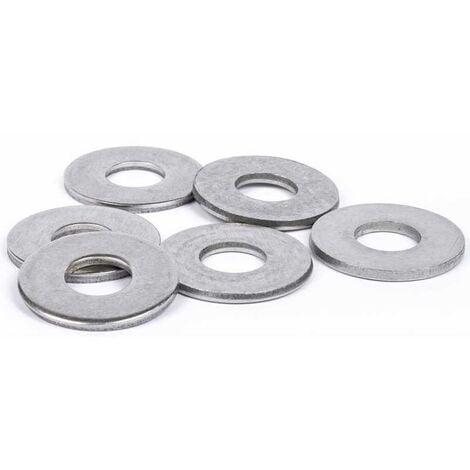 Rondelles plates Large (L) inox A4   10mm - 5 pcs