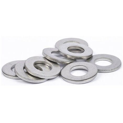 Rondelles plates Moyenne (M) inox A4 | 6mm - 25 pcs
