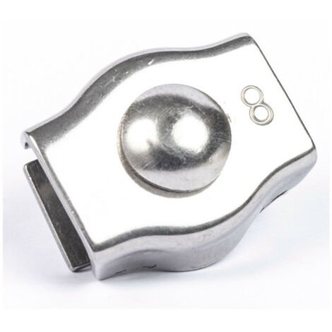 Serre câble simple inox A4   2mm - 2 pcs