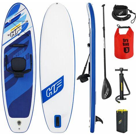 Set Planche gonflable avec sac accessoires Kayak Stand Up Paddle SUP 305x84x12cm