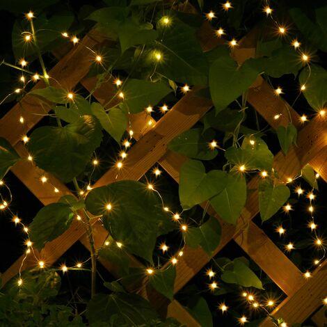 Guirlande 80-200 LEDs Flexible Lumière intérieur et extérieur Décoration Noël 80 LEDs - batteriebetrieben (de)