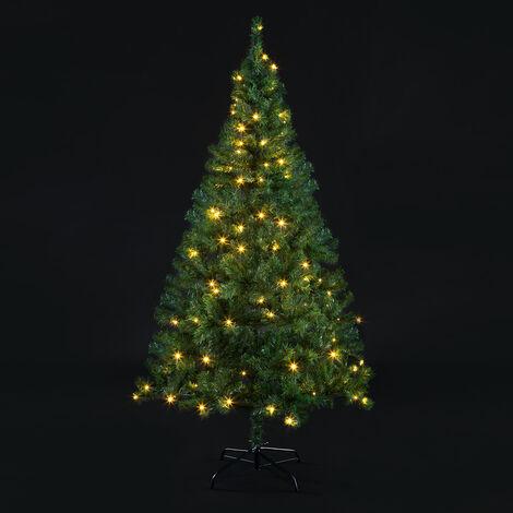 Sapin de Noël artificiel 140-180cm support inclus arbre de noël décoration Standard 150cm (de)