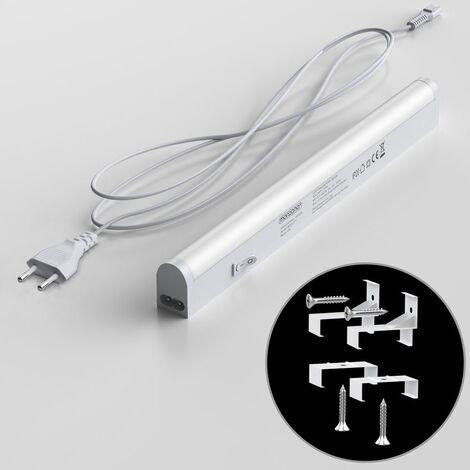 1x ou 2x Réglette LED sous meuble cuisine atelier plan de travail 28 cm ou 54 cm 1er Set - 28cm (de)