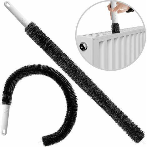 Brosse de nettoyage pour radiateur flexible 78cm plumeau utilisation sec humide