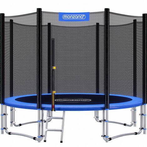 Trampoline extérieur rond Ø305cm max. 150kg set complet filet de sécurité porte d'entrée échelle poteaux trampoline jardin robuste accessoires