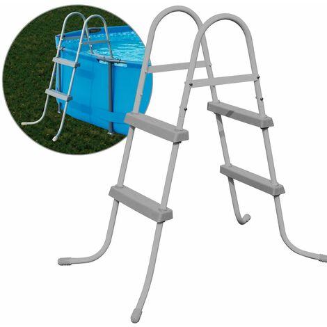 Echelle de piscine sécurité Bestway acier tubulaire anticorrosion 84/107/122 cm 84cm - 2 Stufen (de)
