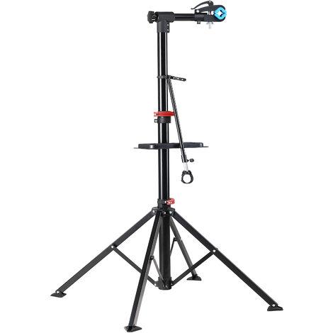Pied d'atelier pour vélos pliable réparation nettoyage max. 30 kg pivotable 360°