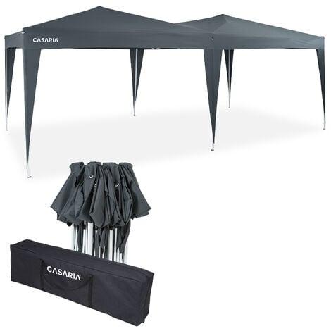 Tonnelle de jardin 3x6m Pop-Up imperméable Protection UV 50+ Sac de transport inclus - Couleur au choix Anthracite