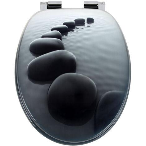 Siège de toilette Abattant WC Cuvette - Fermeture amortisseur - Modèle au choix Stonedesign (de)