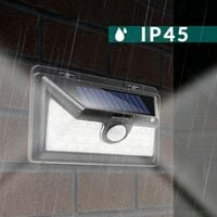 Lampe solaire murale détecteur de mouvement applique murale jardin extérieur 34 LEDs