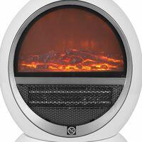 Radiateur électrique design cheminée moderne - pour 30m² - 2 niveaux de chaleur Anti-surchauffe - Mini-cheminée, cheminée table, chauffage d'appoint