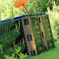 Composteur pour jardin déchets température élevée pour humus 380/800/1200/1600L 380 L (en)