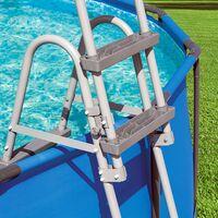 Echelle de piscine sécurité Bestway acier tubulaire anticorrosion 84/107/122 cm 122 cm - 4 niveaux