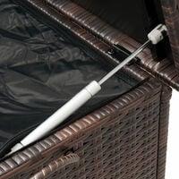 Coffre de rangement en polyrotin Malle boîte stockage jardin terrasse - Brun ou Noir Brun