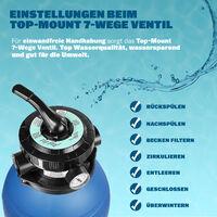 Pompe filtre à sable max. 11.000 L/h avec pré-filtre XXL piscine nettoyage eau