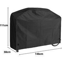 Deuba Bâche de protection housse résistante pour barbecue à gaz Grill - 3 tailles 146x58x111cm