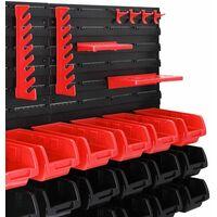 1x ou 2x Étagère murale Boîtes de rangement Porte-outils Bac à bec Garage outils 45 Pièces