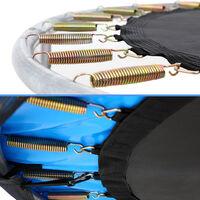 Trampoline Ø 244/305/366/426 cm Set complet Filet de sécurité + Bâche de protection + Echelle + Coussin Jardin Jeux Ø 244cm (de)