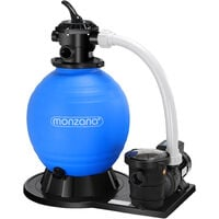 Pompe filtre à sable 15.900 l/h préfiltre 600W système de filtration eau piscine