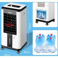 Rafraîchisseur d'air mobile 4en1 avec télécommande 3 vitesses 75W Ventilateur ioniseur humidificateur purificateur d'air 8L