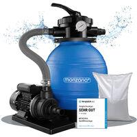 Pompe filtre à sable 10.200 l/h verre filtrant 25 kg système filtration piscine