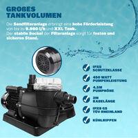 Pompe filtre à sable 9.960 l/h verre filtrant 25 kg système de filtration piscine