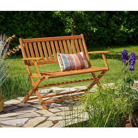 Gartenbank Klappbar Fsc Zertifiziertes Eukalyptusholz 2 Sitzer Garten Holz Bank Parkbank Balkonbank Terrasse