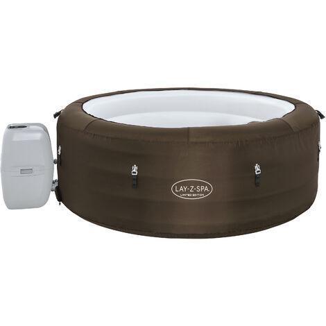 Bestway Whirlpool Outdoor 196x61cm   Filterpumpe   40°C beheizter Pool   LAY-Z SPA selbst aufblasend Massagefunktion