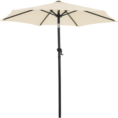 Alu Sonnenschirm 250 cm mit Knick Martktschirm Schirm div Farben Kurbel