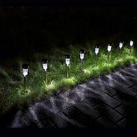 16x LED Solarleuchte aus Edelstahl Gartenleuchte Steckleuchte Solarlampe