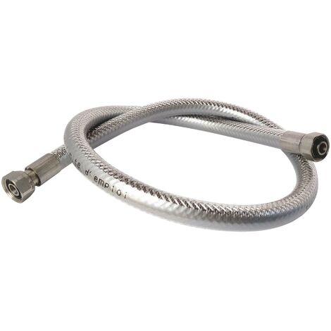 Flexible inox pour GAZ NATUREL- Longueur : 1 mètre - Durée illimitée