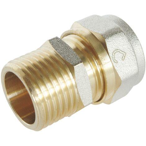 Racccord droit à visser pour tube Multicouche Ø16-M15/21