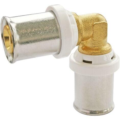Coude à sertir pour tube Multicouche Ø16