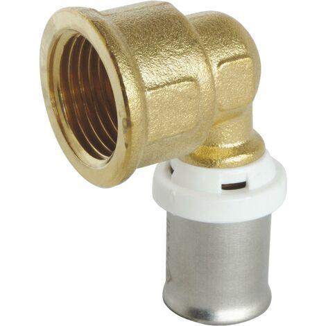 Coude à sertir pour tube Multicouche Ø16 - F15/21