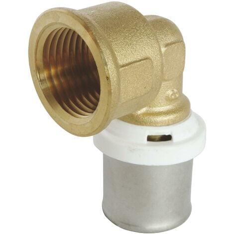 Coude à sertir pour tube Multicouche Ø20 - F15/21