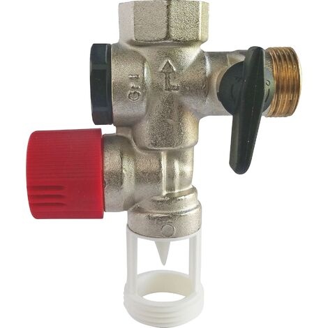 Groupe de sécurité droit siège inox pour eau agressive NF 20/27 (3/4'')