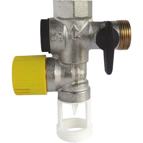 Groupe de sécurité droit siège téflon pour eau calcaire NF 20/27 (3/4'')
