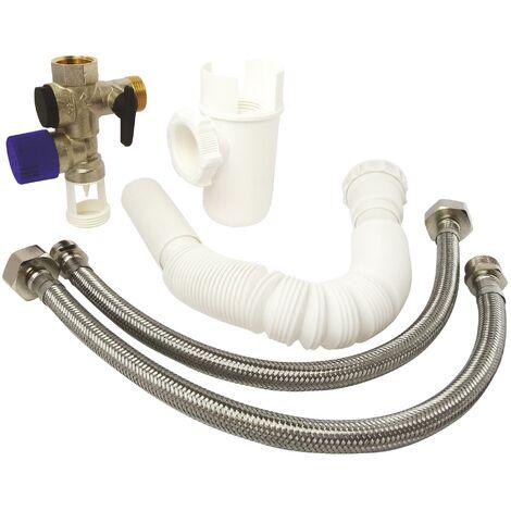 Kit complet de raccordement chauffe-eau avec Groupe de sécurité