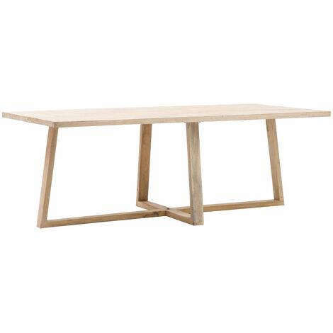 Table à manger design bois clair 220cm - Bois