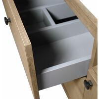 Meuble salle de bain industriel 2 tiroirs 1 porte 1 vasque - MDF