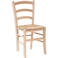 Chaise en bois et assise en paille pour salle à manger bar