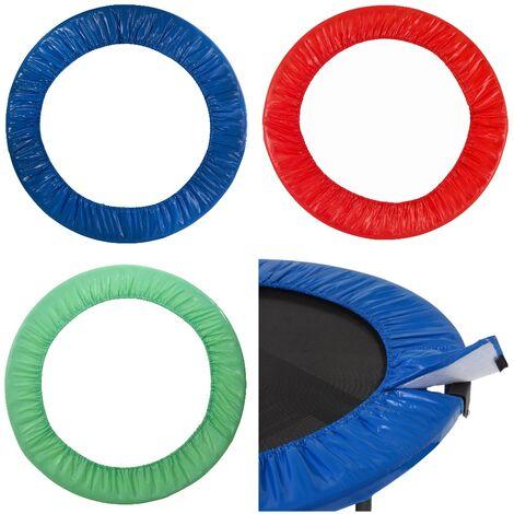 Coussin de Protection et Sécurité de Remplacement pour Mini Trampoline Rond 101 cm - Vert