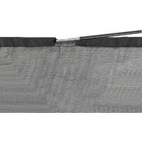 Filet de Protection et Sécurité de Remplacement pour Trampoline Rond 335 cm avec 6 Poteaux Courbés et Anneau Supérieur