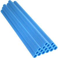 16 Tubes en Mousse 94 x 2,54 cm   Mousses de Perches pour la Protection du Poteaux de Trampoline   Bleu