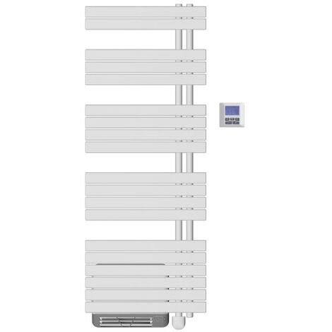Seche-serviettes AIRELEC Asymétrique à droite OSYA électrique 1500W (500W + 1000W) - A694141