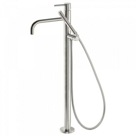 Robinet sur pied pour douche Corps encastré inclus. Douchette à main anticalcaire et flexible. - TRES 26247001AC