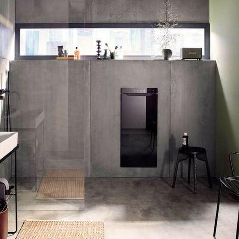Sèche-serviette ACOVA Zenia electrique soufflant 1225W (225W + 1000W ) Noir ouverture à droite AZNRB-100-045