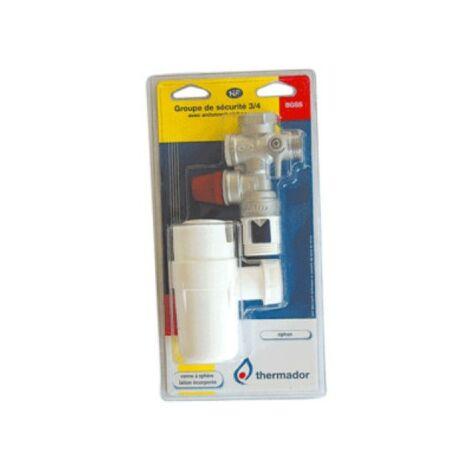 Kit chauffe-eau groupe de sécurité + siphon + 2 flexibles inox + évacuation - THERMADOR BKCE