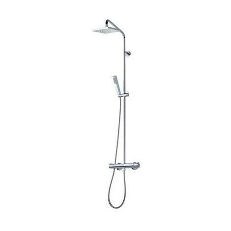 Colonne de douche avec mitigeur et pomme carrée THERMOSTATIQUE CUBE - CRISTINA ONDYNA TE44951